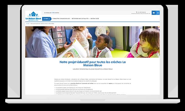 la maison bleue desktop projet éducatif