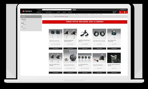 optosigma desktop liste produits